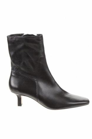 Γυναικεία μποτάκια Zara, Μέγεθος 39, Χρώμα Μαύρο, Γνήσιο δέρμα, Τιμή 71,65€