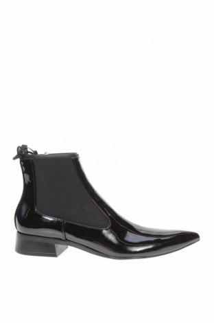 Дамски боти Zara, Размер 37, Цвят Черен, Еко кожа, текстил, Цена 59,25лв.