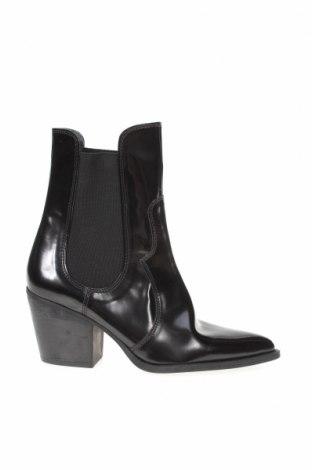 Дамски боти Zara, Размер 38, Цвят Черен, Еко кожа, Цена 59,25лв.