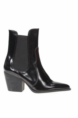 Дамски боти Zara, Размер 39, Цвят Черен, Еко кожа, Цена 51,00лв.