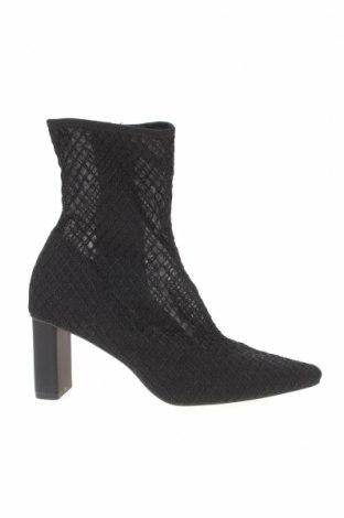 Botine de damă Zara, Mărime 38, Culoare Negru, Textil, Preț 194,90 Lei
