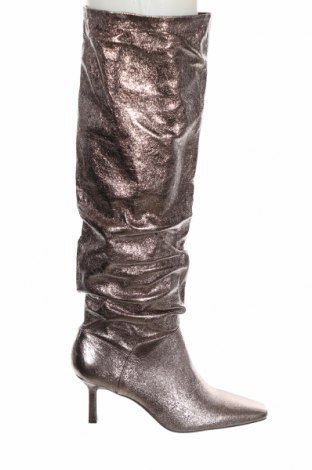Dámské boty  Stradivarius, Velikost 40, Barva Stříbrná, Pravá kůže, Cena  1067,00Kč