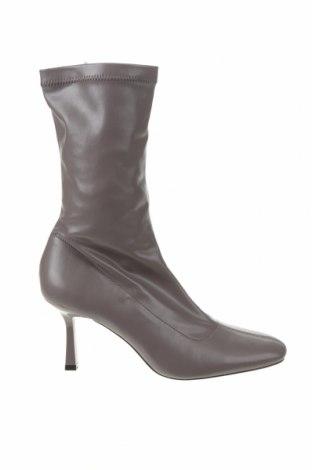 Dámské boty  Stradivarius, Velikost 38, Barva Šedá, Eko kůže, Cena  530,00Kč