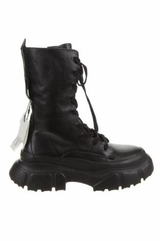 Dámské boty  Zara, Velikost 39, Barva Černá, Pravá kůže, Cena  2862,00Kč