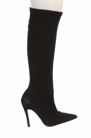 Дамски ботуши Zara, Размер 37, Цвят Многоцветен, Естествен велур, Цена 141,75лв.