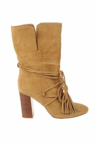 Dámské boty  Zara, Velikost 39, Barva Hnědá, Přírodní velur , Cena  822,00Kč