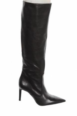 Dámské boty  Zara, Velikost 38, Barva Černá, Pravá kůže, Cena  1817,00Kč