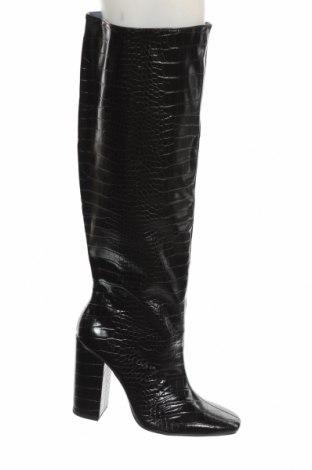 Дамски ботуши Zara, Размер 40, Цвят Черен, Еко кожа, Цена 96,75лв.