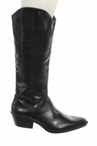 Дамски ботуши Zara, Размер 37, Цвят Черен, Еко кожа, Цена 96,75лв.