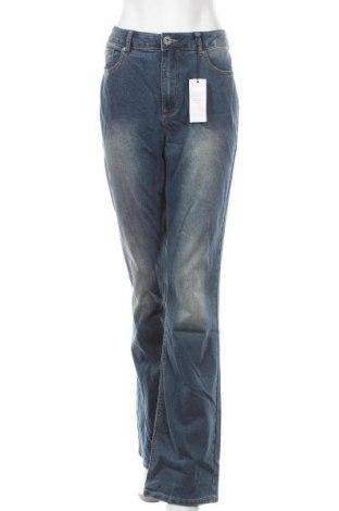 Дамски дънки Arizona, Размер L, Цвят Син, 79% памук, 19% полиестер, 2% еластан, Цена 31,74лв.