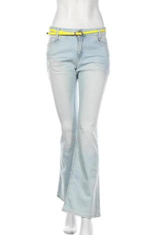 Дамски дънки Denim Hunter, Размер S, Цвят Син, 98% памук, 2% еластан, Цена 22,25лв.