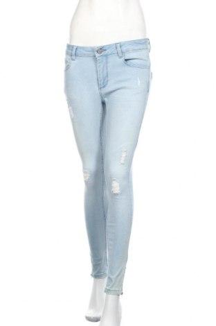 Дамски дънки Denim Hunter, Размер M, Цвят Син, 90% памук, 8% полиестер, 2% еластан, Цена 19,75лв.