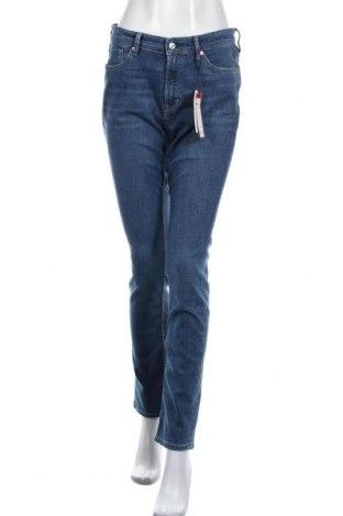 Дамски дънки S.Oliver, Размер M, Цвят Син, 85% памук, 14% полиестер, 1% еластан, Цена 42,57лв.