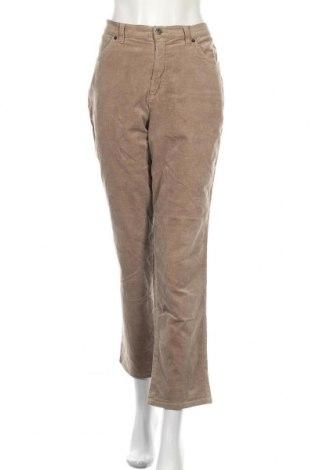 Γυναικείο κοτλέ παντελόνι Ascari Jeans, Μέγεθος L, Χρώμα  Μπέζ, 97% βαμβάκι, 3% ελαστάνη, Τιμή 16,89€