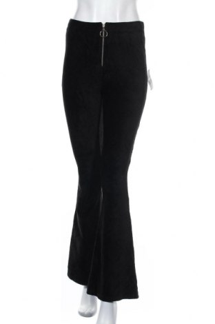 Pantaloni de velvet de femei Forever 21, Mărime S, Culoare Negru, 69% bumbac, 28% poliester, 3% elastan, Preț 139,26 Lei