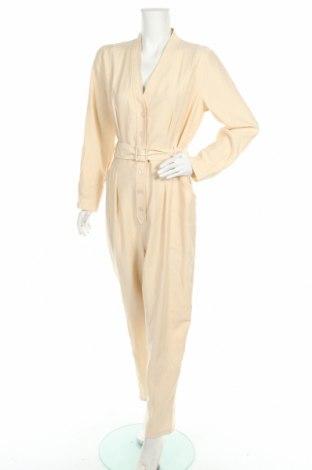 Дамски гащеризон Zara, Размер XL, Цвят Бежов, 90% лиосел, 10% полиестер, Цена 18,17лв.