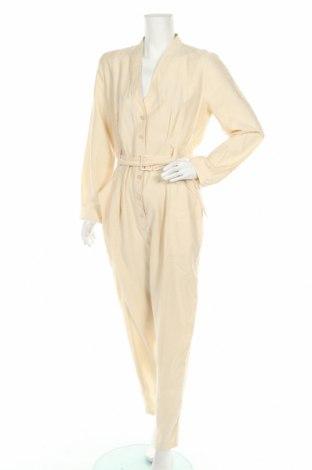 Дамски гащеризон Zara, Размер XL, Цвят Бежов, 90% лиосел, 10% полиестер, Цена 22,20лв.