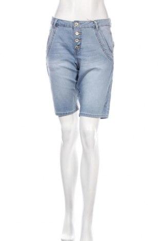 Дамски къс панталон Cream, Размер M, Цвят Син, 83% памук, 15% полиестер, 2% еластан, Цена 33,82лв.