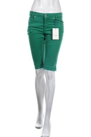 Дамски къс панталон Denim Hunter, Размер S, Цвят Зелен, 98% памук, 2% еластан, Цена 22,42лв.