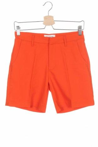 Дамски къс панталон Denim Hunter, Размер XS, Цвят Оранжев, 49% полиестер, 47% памук, 4% еластан, Цена 44,25лв.