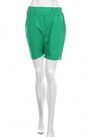 Дамски къс панталон Kaffe, Размер M, Цвят Зелен, Памук, полиестер, вискоза, еластан, Цена 26,22лв.