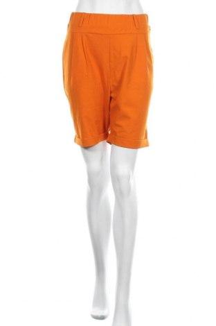 Дамски къс панталон Kaffe, Размер L, Цвят Оранжев, Памук, еластан, полиестер, вискоза, Цена 26,22лв.