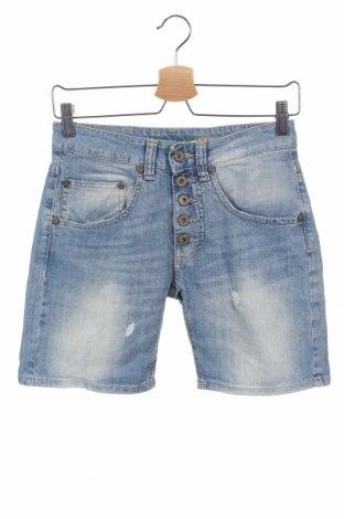 Pantaloni scurți de femei Please, Mărime XS, Culoare Albastru, 98% bumbac, 2% elastan, Preț 110,52 Lei