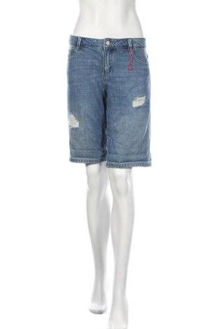 Pantaloni scurți de femei S.Oliver, Mărime L, Culoare Albastru, Bumbac, Preț 45,39 Lei