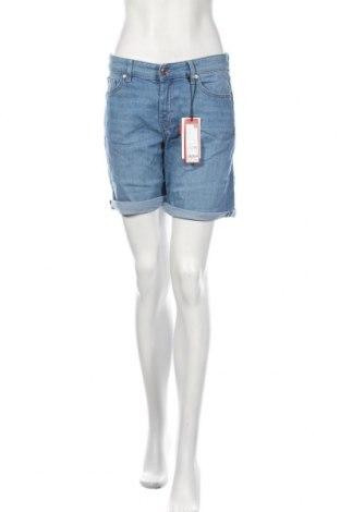 Pantaloni scurți de femei S.Oliver, Mărime S, Culoare Albastru, 85% bumbac, 14% poliester, 1% elastan, Preț 45,39 Lei