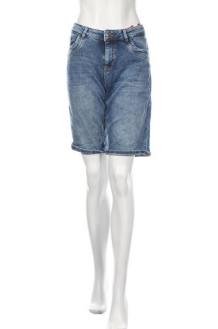Дамски къс панталон S.Oliver, Размер M, Цвят Син, 98% памук, 2% еластан, Цена 17,25лв.