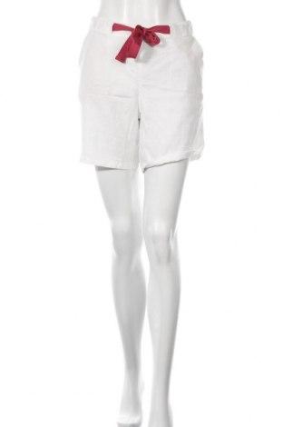 Pantaloni scurți de femei S.Oliver, Mărime L, Culoare Alb, 70% lyocell, 30% in, Preț 45,39 Lei