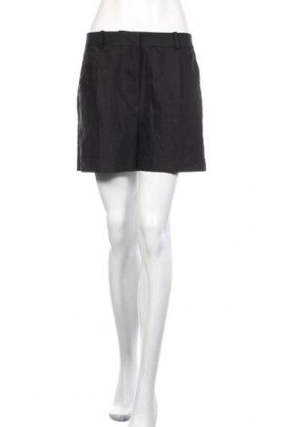 Дамски къс панталон Zara, Размер L, Цвят Черен, 53% памук, 44% полиестер, 3% еластан, Цена 36,75лв.