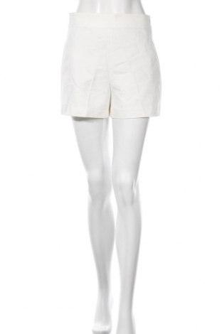 Дамски къс панталон Zara, Размер S, Цвят Бял, 48% полиестер, 32% лиосел, 16% памук, 4% еластан, Цена 29,25лв.