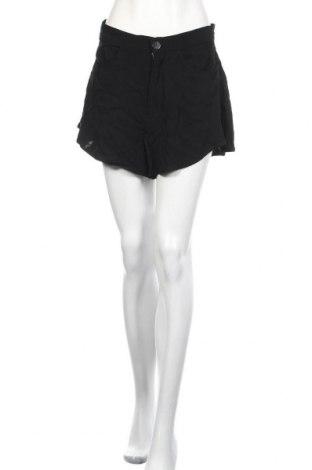 Дамски къс панталон Zara, Размер L, Цвят Черен, Вискоза, Цена 17,15лв.