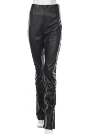 Дамски кожен панталон Zara, Размер XL, Цвят Черен, Еко кожа, Цена 51,75лв.