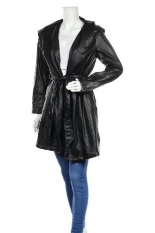 Дамски кожен шлифер Zara, Размер XS, Цвят Черен, Еко кожа, Цена 96,75лв.