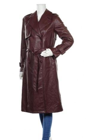Дамски кожен шлифер Zara, Размер M, Цвят Кафяв, Еко кожа, Цена 76,50лв.