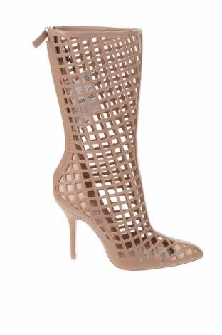 Дамски летни ботуши Zara, Размер 38, Цвят Пепел от рози, Естествена кожа, Цена 126,75лв.