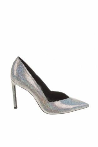 Încălțăminte de damă Bershka, Mărime 38, Culoare Argintiu, Textil, Preț 36,08 Lei