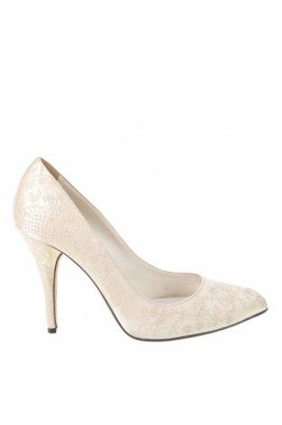 Γυναικεία παπούτσια Ermanno Scervino, Μέγεθος 37, Χρώμα Εκρού, Κλωστοϋφαντουργικά προϊόντα, Τιμή 244,95€