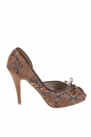Γυναικεία παπούτσια Gucci, Μέγεθος 37, Χρώμα Καφέ, Κλωστοϋφαντουργικά προϊόντα, γνήσιο δέρμα, Τιμή 146,97€