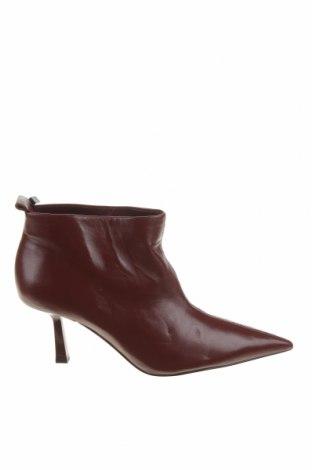 Dámské boty  Zara, Velikost 38, Barva Červená, Pravá kůže, Cena  1511,00Kč