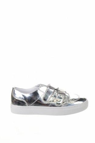 Încălțăminte de damă Zara, Mărime 39, Culoare Argintiu, Piele ecologică, Preț 162,83 Lei