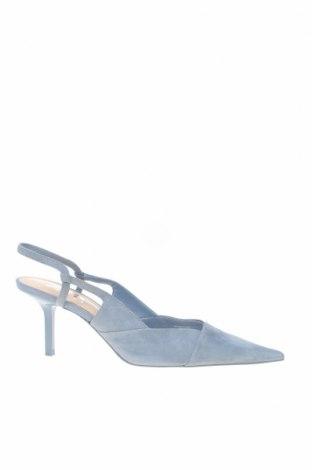 Γυναικεία παπούτσια Zara, Μέγεθος 39, Χρώμα Μπλέ, Φυσικό σουέτ, Τιμή 18,93€