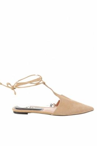 Dámské boty  Zara, Velikost 38, Barva Béžová, Přírodní velur , Cena  848,00Kč