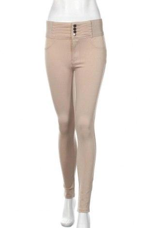 Pantaloni de femei Amisu, Mărime M, Culoare Bej, 68% viscoză, 28% poliamidă, 4% elastan, Preț 81,90 Lei