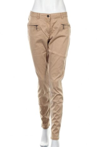 Γυναικείο παντελόνι Comma,, Μέγεθος XL, Χρώμα  Μπέζ, 66% lyocell, 32% βαμβάκι, 2% ελαστάνη, Τιμή 25,05€