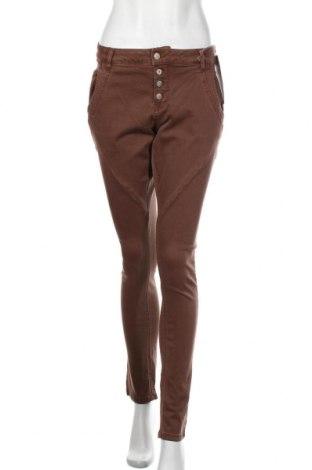 Pantaloni de femei Cream, Mărime L, Culoare Maro, 70% bumbac, 14% poliester, 14% viscoză, 2% elastan, Preț 424,34 Lei
