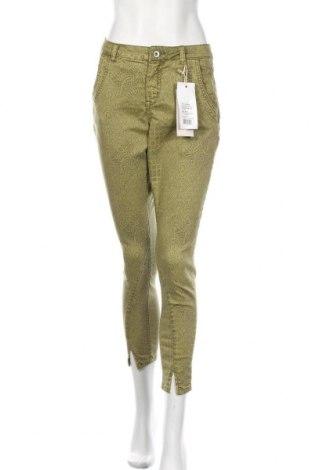 Pantaloni de femei Cream, Mărime M, Culoare Verde, 65% bumbac, 33% poliester, 2% elastan, Preț 424,34 Lei