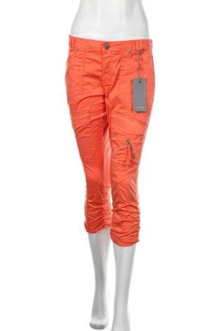 Дамски панталон Culture, Размер M, Цвят Оранжев, 98% памук, 2% еластан, Цена 66,75лв.